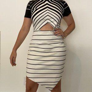 Black & White Cut-out Dress, bec + bridge, 8